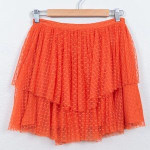 NWT Delia's Orange Lace Tiered Lined Skirt